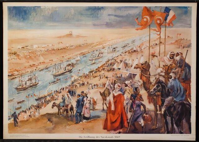 Inauguració del Canal de Suez