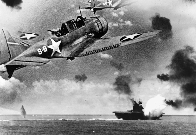 US defeats Japan in the Battle of Midway