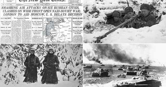 The Russian winter begins to defeat the German troops