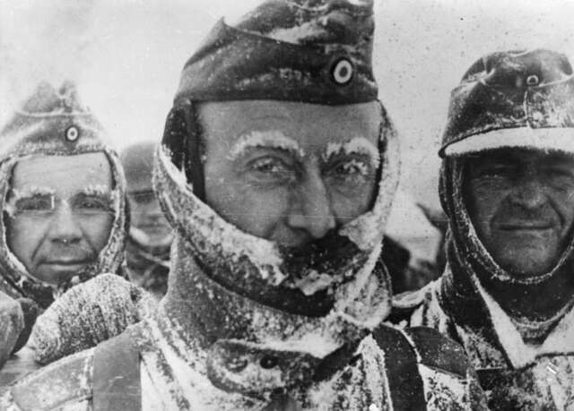 German troops serrender at Stalingrad