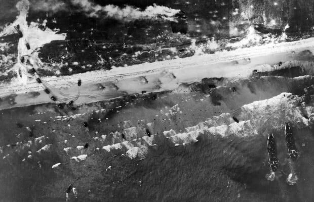 The landing in Normandy occurs