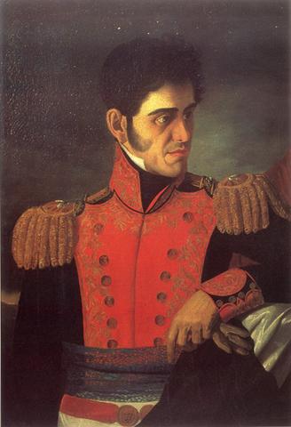 Antonio López de Santa Anna es presidente
