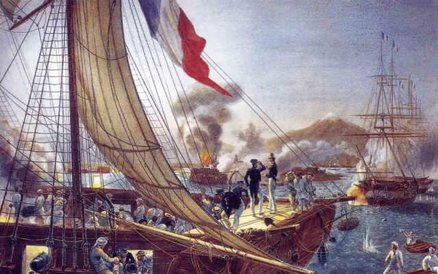 """Primera intervención francesa, conocida como """"La guerra de los pasteles"""""""