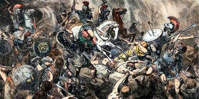 Guerra del Peloponeso entre Atenas y Esparta.