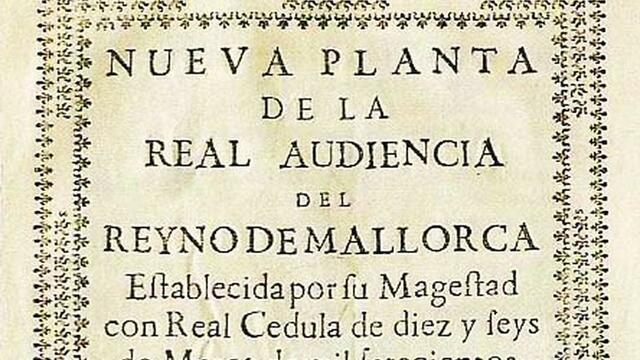 Tratado de Nueva Planta, Mallorca