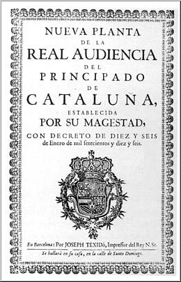 Decreto de Nueva Planta, Cataluña