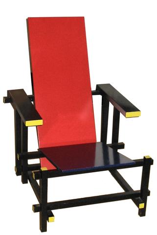 Cadira vermella i blava de Gerrit Rietveld