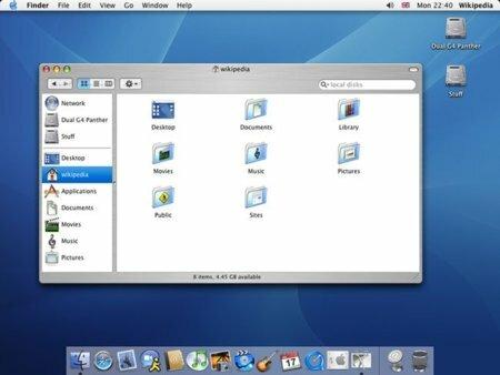"""Mac OS X 10.3 """"Panther"""""""