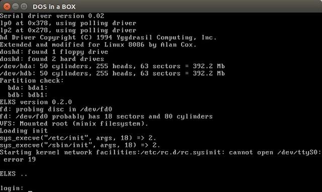 Linux: ELKS