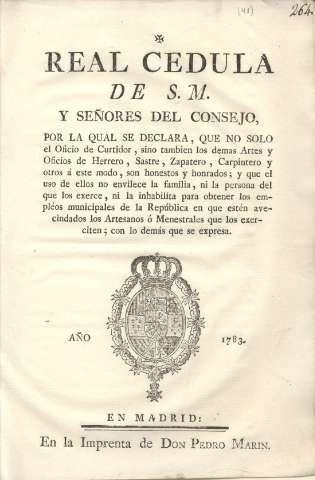 Real Cédula de 1783