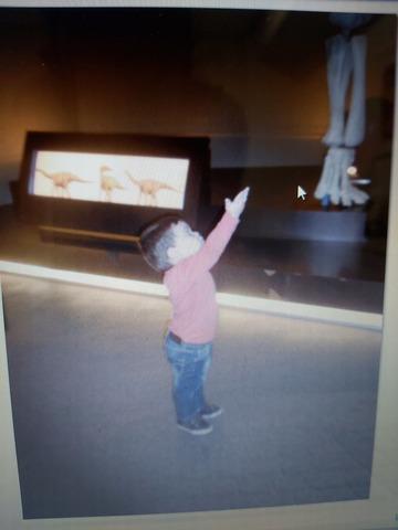 Dinosaurari txupetea eman eta gero, eskatzen nion.