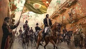 El ejército Trigarante hace su entrada triunfal a México, y México es proclamado país independiente.