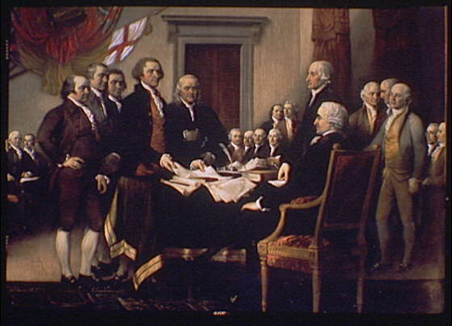signing of the declation of independence