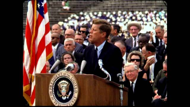 President Kennedy's announcement of commiting to the Moon Mission.