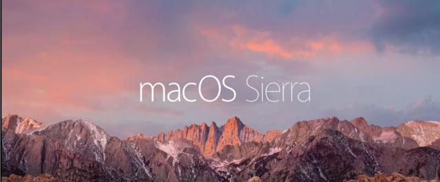 Mac OS X 10.12 macOS Sierra