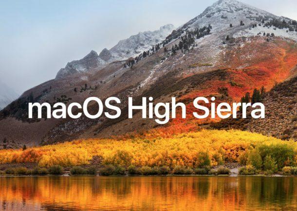 Mac OS X 10.13 macOS High Sierra