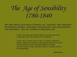 The age of sensibility