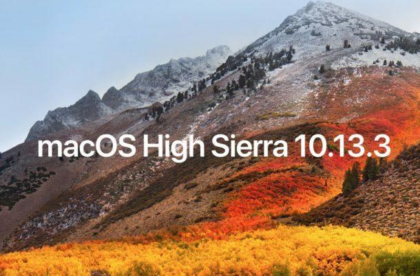 macOS High Sierra 10.13 - 10.13.6