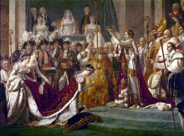 Crowned emperor of France