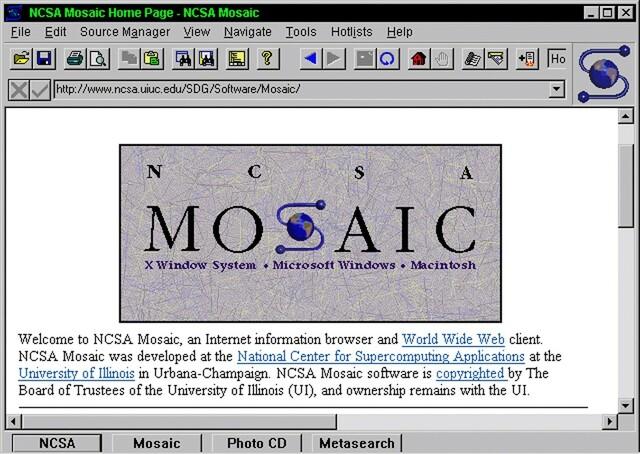 Se implementa la primera versión de Mosaic por Sun Microsystems inc.