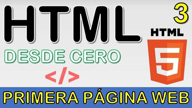 Primera versión de HTML 3