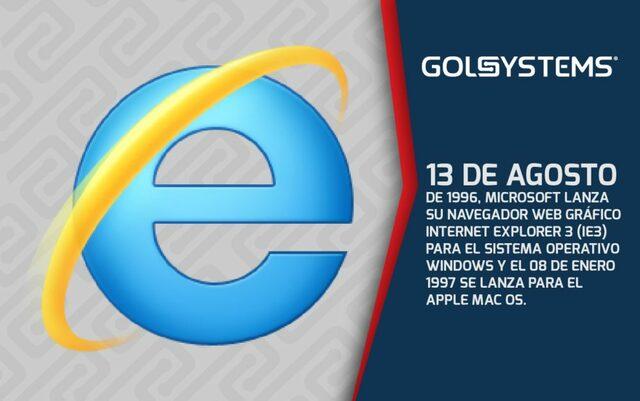 Microsoft Internet Explorer esta disponible para sistemas operativos Macintosh y Windows