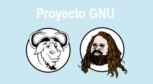 Richard Stallman crea el proyecto de GNU.