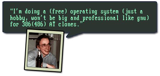 """Linus Torvalds envía un correo electrónico a la comunidad de usuarios de Minix avisándoles del nuevo sistema operativo que creó llamado """"Linux"""""""