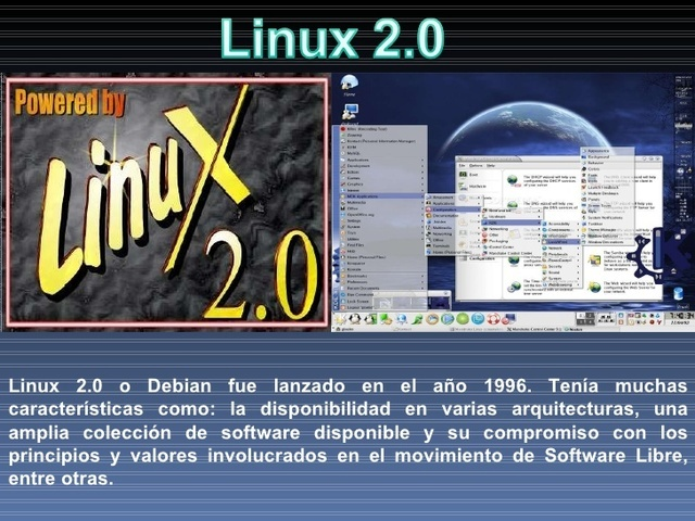 La versión 2.0 del núcleo Linux