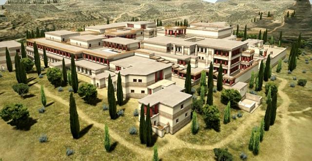 Construcción de palacio de Cnosos