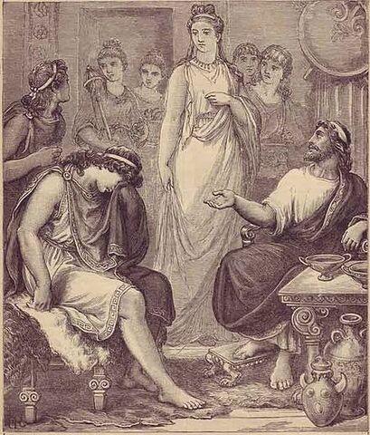 Nella reggia di Menelao (Lacedemone)