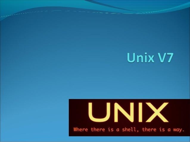 1979.- versión 7 de Unix