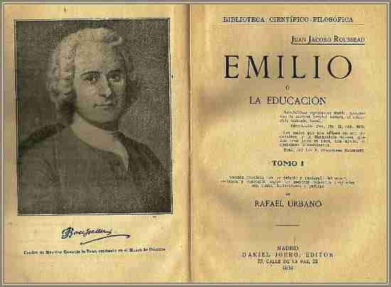 """Obra de J. J. Rousseau """"El Emilio"""""""