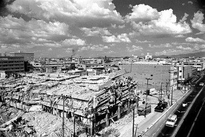 Sismo que provoca graves daños en la Ciudad de México