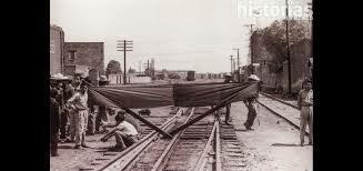 Protesta de los ferrocarrileros