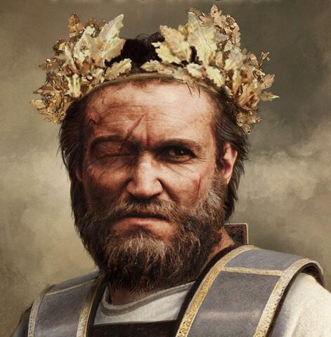 El rey de Macedonia