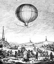 Первый полет человека на воздушном шаре