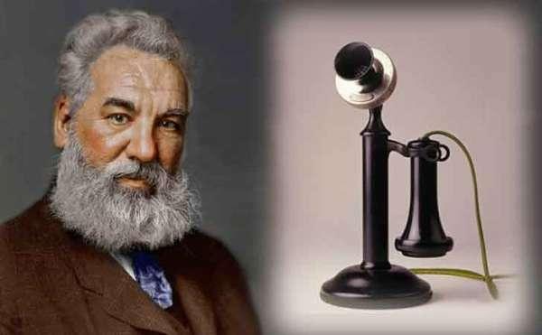 Graham Bell inventa el teléfono