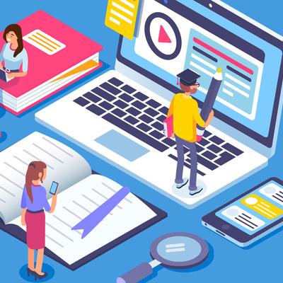 Historia de las TIC en la educación y del E-Learning timeline