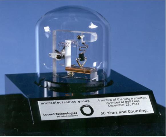 1947 - Invenção do primeiro Transístor