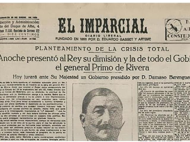 La caída de Primo de Rivera