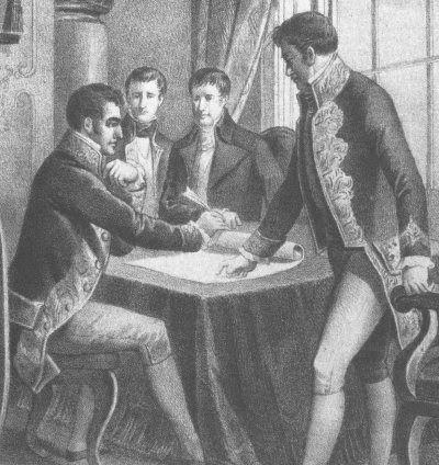 Firma del tratado de valençay