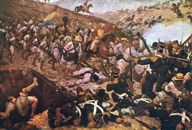 Batalla de Boyacá y Carabobo