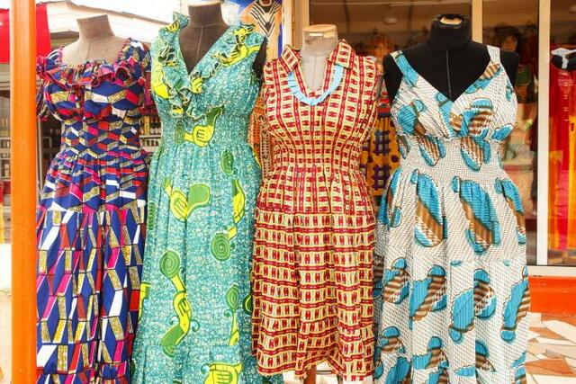 Fashionable clothing with traditional patterns