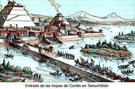 Llegada de Hernán Cortez  a Tenochtitlan