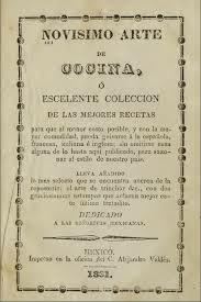 Novisimo arte de cocinar se imprime en 1831