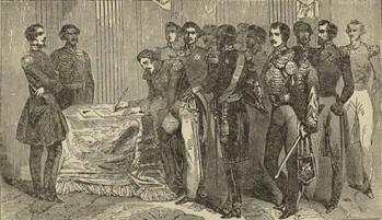 Firma del tratado de de Guadalupe