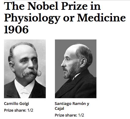 Premio Nobel de Medicina en 1906