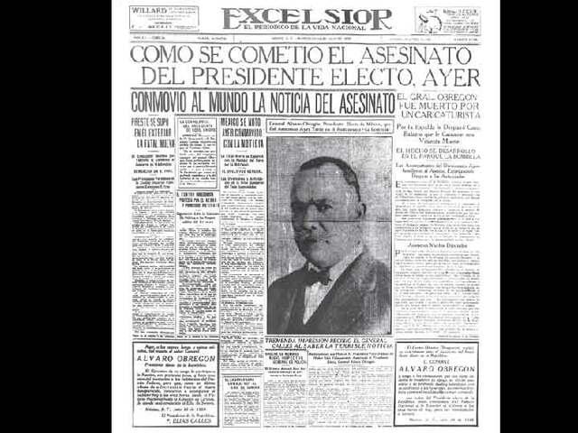 Es asesindado Álvaro Obregón
