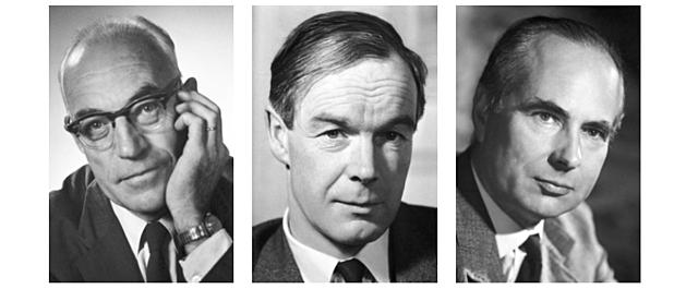 Roger W. Sperry (1913- 1994), David H. Hubel (1926-2013) y Torsten N. Wiesel (1924-)
